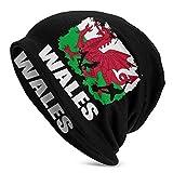 Mamihong Drapeau du Pays de Galles Joueur de Football Rugby Femmes Hommes Bonnet de Couleur Unie - Casquette d'hiver Extensible et Douce (Mince)