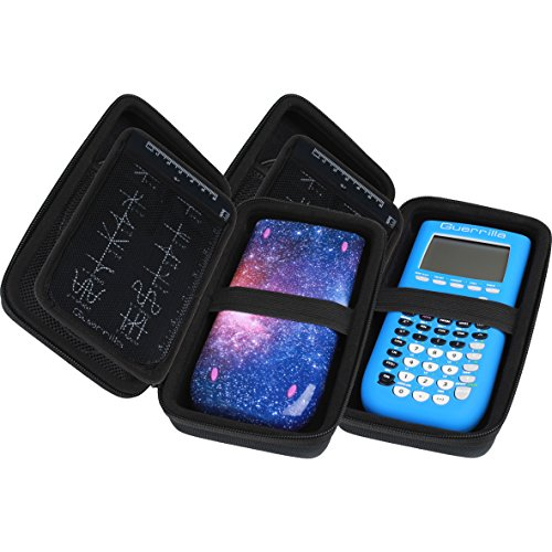 Guerrilla Hard Travel Case for TI-83 Plus, TI-84 Plus, TI-84 Plus Color Edition, TI-89 Titanium, TI-Nspire CX&CX CAS,HP50G Graphing Calculators + Guerrilla's Essential Calculator Accessory Kit, Black Photo #5