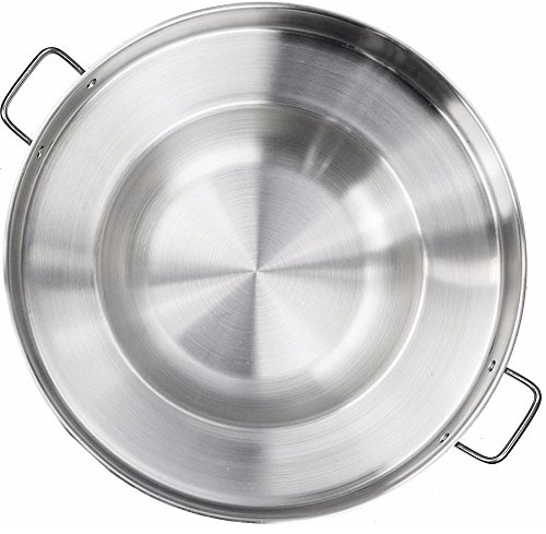 Large Mexican Style Wok Comal Cazo Griddle Fryer Chicharron Deep Fry Pan Stainless Steel For Carnitas Panza Abajo 22.5' Paella
