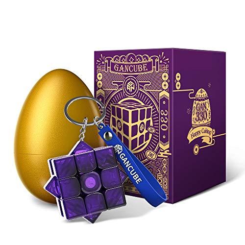 GAN 330 Edición Huevo de Pascua, Antiguo Rima Llavero Cubo Mini 3x3 Juguetes Regalo (Azul Cobalto)