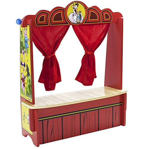 Imagination Generation Wooden Wonders Mother Goose's Tabletop Puppet Theater