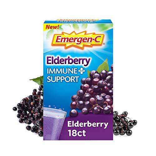 Emergen-C Immune+ Vitamin C 1000mg (18 Count, Elderberry) Dietary...