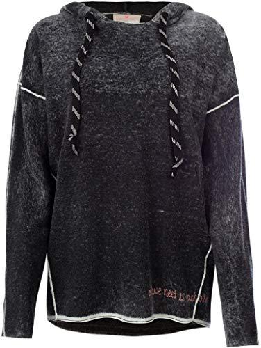Lieblingsstück Damen Pullover im Ombré-Look KyleL Größe 40 EU Schwarz (schwarz)
