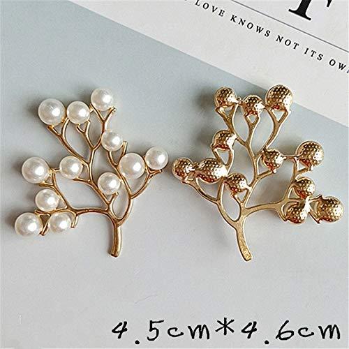 HUAHU 10 unids/Lote 45mm * 46mm aleación Creativa Perlas de Oro Colgante Botones joyería para Pendientes Gargantilla Pelo DIY Accesorios de joyería Hechos a Mano