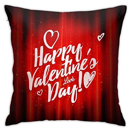 Happy Valentine S Day - Fundas de cojín de algodón y poliéster, fundas de almohada para sofá, decoración del hogar, 45,7 x 95,7 cm