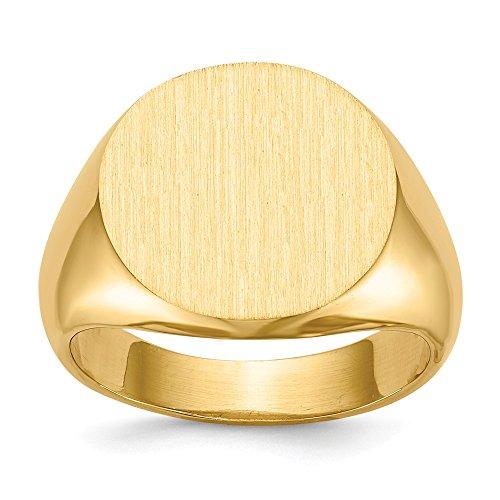 DIAMOND2DEAL INC Anillo de Oro Amarillo de 14 Quilates, 15 mm, para Hombre, Talla 8