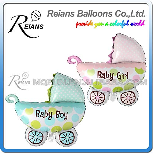 Fantastic Prices! Xucus Wholesales 90pcs Stroller Foil Balloons Baby Shower Baby Carriage Boy & Girl...