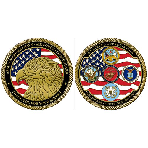 All Service All Departments Challenge Coins Appreciation Gift Coin
