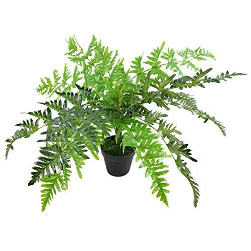 Leaf Foglia 50cm Artificiale Evergreen Felce pianta