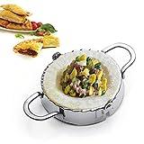 Best Utensils Stainless Steel Ravioli Mold Pierogi Dumpling Maker Wrapper Pastry Dough Cutter Kitchen Accessories (M: DIA. 4 inch)
