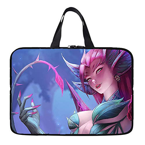 Laptop Sleeve Case Protective Bag with Outside Handle, Ultrabook Notebook Carrying Case Handbag for 14' 15' Lenovo Dell Toshiba HP Acer-Queen of Thorns_13-inch