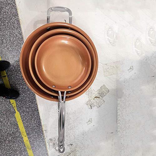 POMU Antistick Koperen Koekenpan met Keramische Coating en Inductie koken Oven Vaatwasser