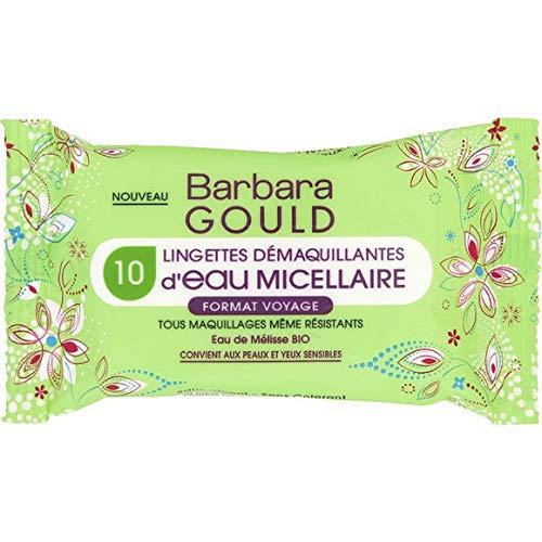 Barbara Gould–Toallitas démaquillantes de agua micelar–el paquete de 10toallitas–Patines para los Mandos en Francia–precio por unidad