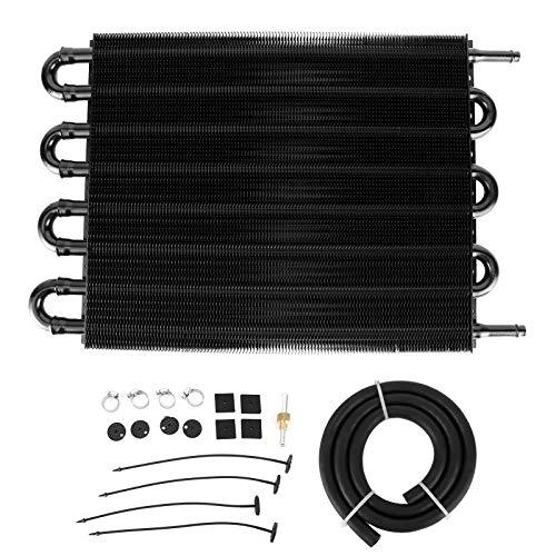 Bediffer 26.000 LBS Getriebeölkühler Langlebig Universal Schwarz 8 Reihen für Autoteile für Ihr Fahrzeug