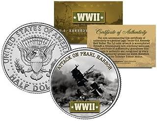 World War II ATTACK ON PEARL HARBOR JFK Kennedy Half Dollar US Coin by Merrick Mint