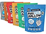 NEW Know Brainer Snacks Low Carb Keto Variety Pack Max Mallows - Atkins, Paleo, Diabetic Diet Friendly Health Snack - Gluten Free, Soy Free & Zero Sugar snack, Non-GMO Ketogenic 6 pack (20.3 ounces)