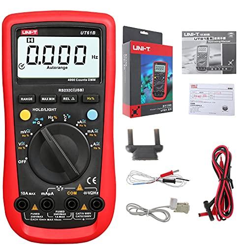 UNI-T UT61B Multimetro Digitale Tensione Corrente Resistenza capacità Tester Amperometro Gamma con capacità di Resistenza