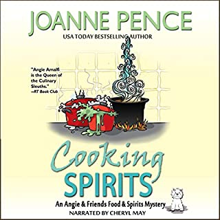 Cooking Spirits: An Angie & Friends Food & Spirits Mystery     The Angie & Friends Food & Spirits Mysteries, Book 1              By:                                                                                                                                 Joanne Pence                               Narrated by:                                                                                                                                 Cheryl May                      Length: 5 hrs and 24 mins     Not rated yet     Overall 0.0