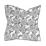 ALARGE - Bufanda cuadrada de seda, estilo vintage, tribal étnico, protector solar, ligero, suave, pañuelo para mujeres y niñas