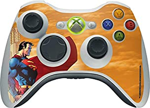 Skinit Decal Gaming Skin for Xbox 360 Wireless Controller - Officially Licensed Warner Bros Superman Design