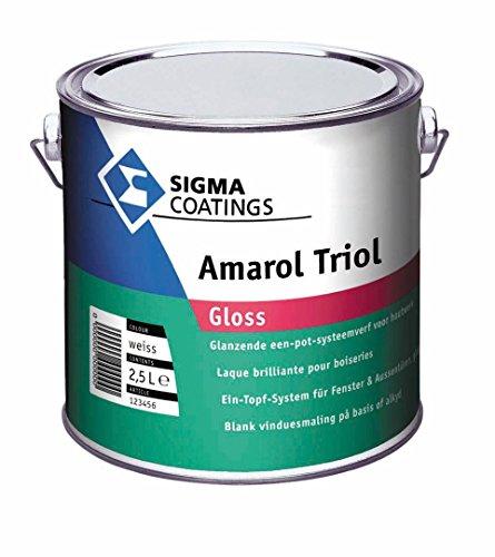 Sigma Amarol Triol Gloss Ein Topf-System für Fenster und Aussentüren glänzend weiß 2,5 L