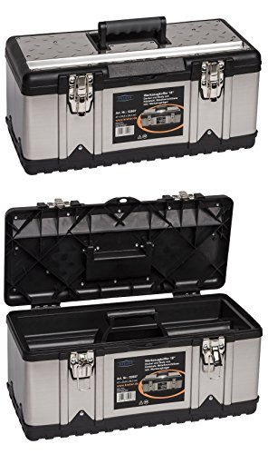 Kreher Edelstahl Werkzeugkoffer-Set. 2 Profi Koffer 18