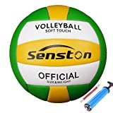 Senston Balon Voleibol Tacto Suave Voleibol de Entrenamiento, Balon Voley Playa, Balon de Voleibol Tamaño 5 para Interior y Exterior