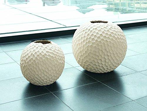 ASA Vase, Stein, Weiß, 21x21x21 cm