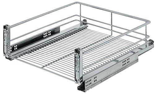 Haefele PiHaMi® Frontauszug verchromt für Küchenunterschrank 450 mm breit zum nachträglichen Einbau