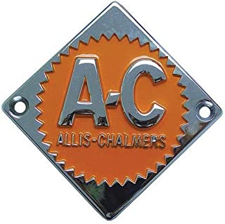 All States Ag Parts Emblem Orange on Chrome Diamond Allis Chalmers D10 D10 D15 D15 D12 D12 D14 D14 D21 D21 D17 D17 ED40 ED40 D19 D19 70228474 Gleaner E3 A2 F E C