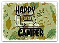 Happy Camper 金属板ブリキ看板警告サイン注意サイン表示パネル情報サイン金属安全サイン