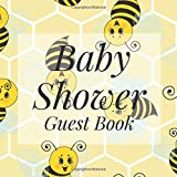 Baby Shower Guest Book: Bumblebee Bee Honeybee Yellow Honeycomb Theme - Gender Reveal Boy Girl Signing Sign In Guestbook, Welcome New Baby with Gift ... Prediction, Advice Wishes, Photo Milestones