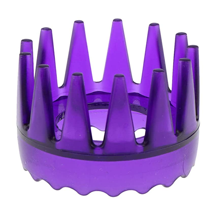 ことわざそっと航海の頭皮マッサージブラシ ヘアブラシ ヘアコーム ヘアケア シャワー 洗髪櫛 滑り止め 全4色 - 紫