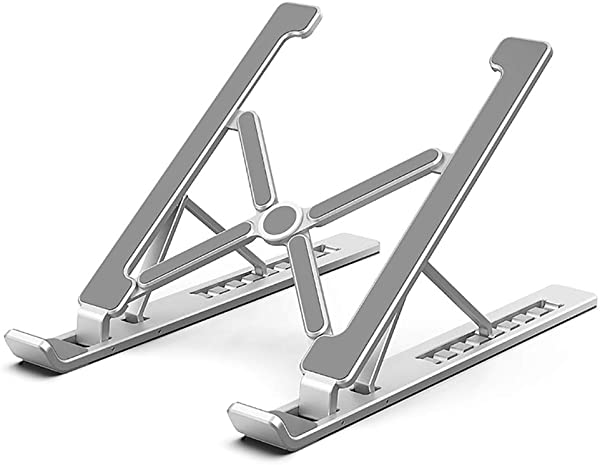 TQZY 笔记本电脑支架台式加大支架铝制散热器底座折叠支架支撑便携升降调节适用 17 英寸
