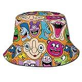 Patrones de Cara extraña Sombrero de Cubo Verano UV Sol Gor