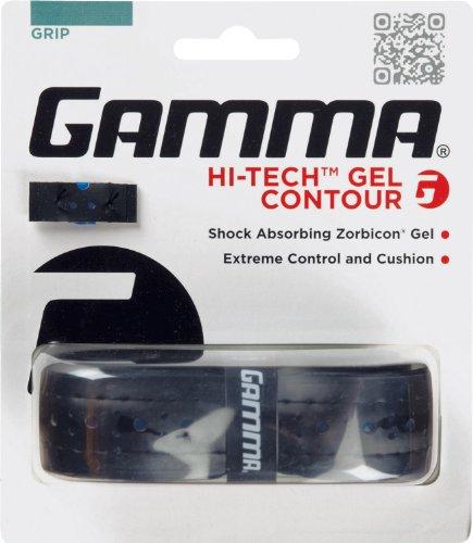 Gamma Hi-Tech Gel Contour Replacement Grip, Black