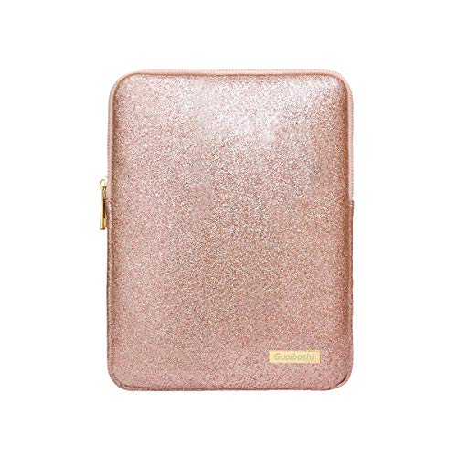 Devmlicor 9-11Inch Tablet Sleeve Bag Case, Glitter PU Leather Pouch Cover Cases for iPad 10.5' 2019, iPad Pro 11 2018, iPad 9.7, Samsung Galaxy Tab, Surface Go 10' 2018-Rose Gold