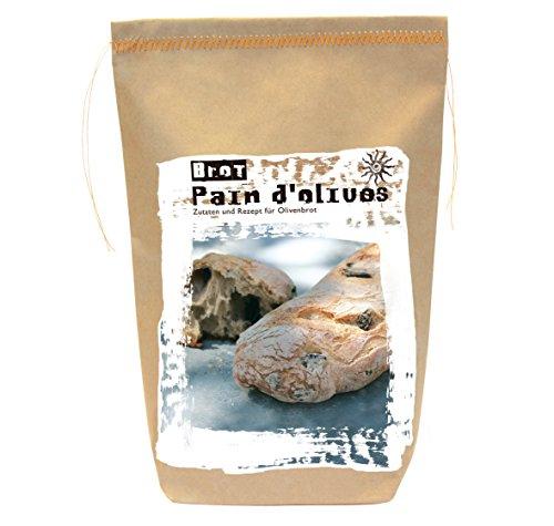 Brotbackmischung Olivenbrot – Pain d'olives – Gourmetbackmischung von Feuer & Glas