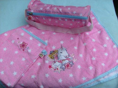 LILLIFEE Handtuch mit Waschhandschuh Einhorn