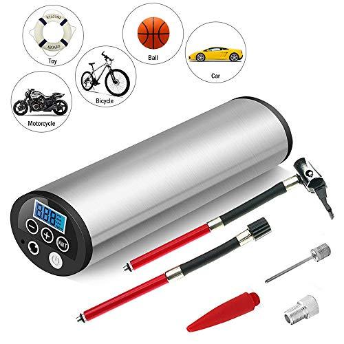 WYLDDP Inflador Recargable 150PSI Bomba de Bicicleta de Coche portátil eléctrica Bomba de Bicicleta de compresor de Aire eléctrico automático Bombas de Bicicleta con Pantalla LCD