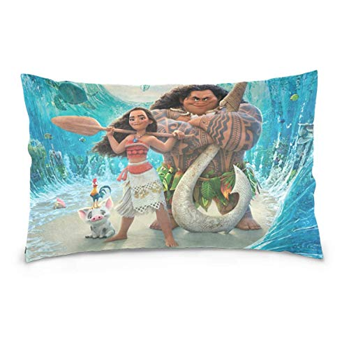 Moana and Maui Cotton Velvet Soft Decorative Square Pillowcase Cushion Cushion Pillowcase Home Decoration Sofa Sofa Bed Chair