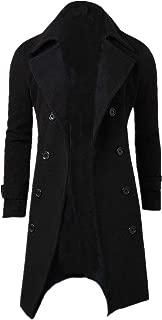 New Winter Men Slim Stylish Trench Coat Double Breasted Long Jacket Parka