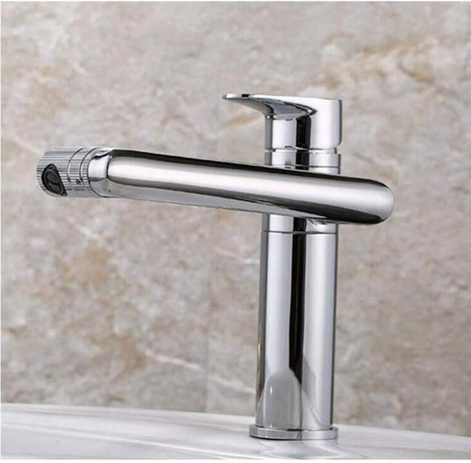 Chrome-Plated Adjustable Temperature-Sensitive Led Faucettap Deck Mounted Hot&Cold Sink Mixer Tap Faucet