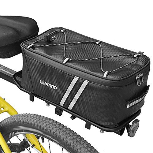 Lixada Bike Trunk Bag Bicycle Rack Rear Carrier Bag 7L Bicycle Commuter Bag Water Resistant Bike Rack Bag with Rain Cover