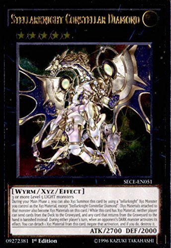 YU-GI-OH! - Stellarknight Constellar Diamond (SECE-EN051) - Secrets of Eternity - 1st Edition - Ultimate Rare