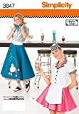 Simplicity Sewing Pattern 3847 Misses Costumes Poodle Skirt 50s Diner R5 (14-16-18-20-22)
