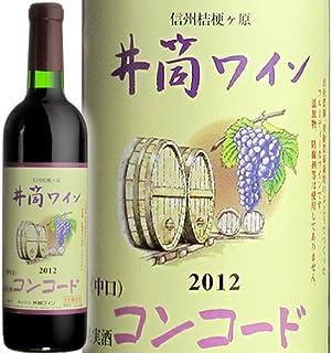 井筒ワイン 無添加コンコード赤(中口) 720ml