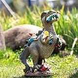Gartenzwerg Deko Garten Dinosaurier-ESS-Zwerge,Garten Deko Für Außen Gartenfiguren Für Haus Und Garten,Lustige Dinosaurier Essen Gnomen Gartenkunst Outdoor Statue Für Rasen (Large)