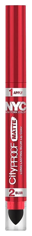 間違い技術的な混乱NYC City Proof Matte Blur Lip Color - Red High Line (並行輸入品)