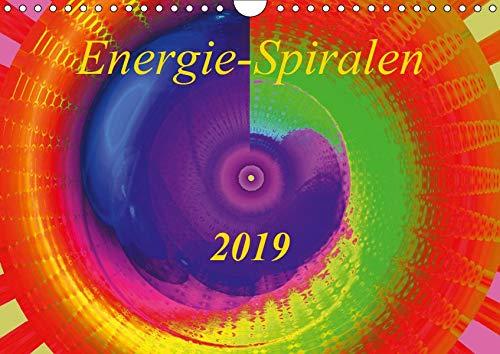 Energie-Spiralen 2019 (Wandkalender 2019 DIN A4 quer): Farbenprächtige und motivationsfördernde Energie-Kunst-Spiralen für mehr Vitalität und ... 14 Seiten (CALVENDO Gesundheit)